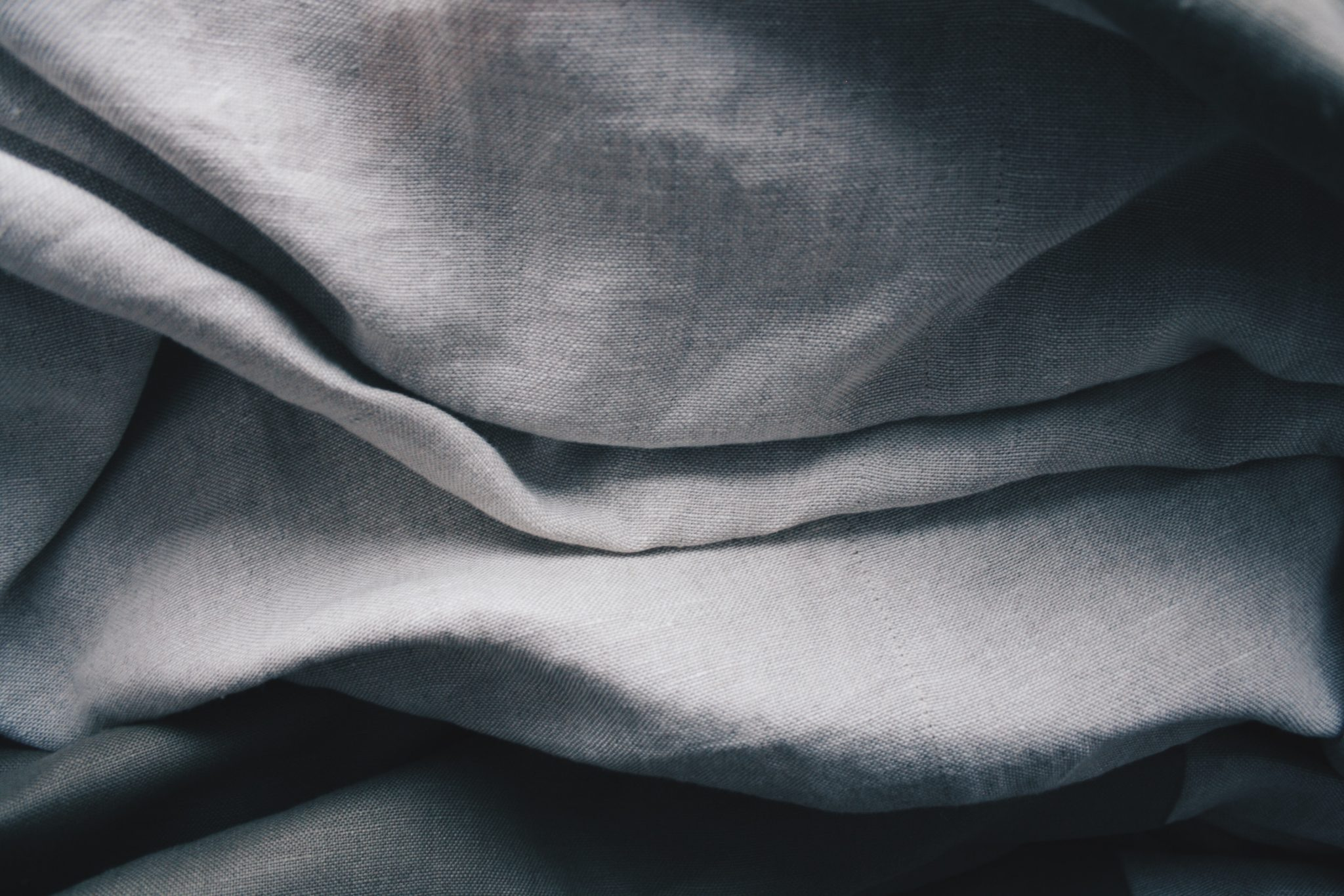 Ruffled muslin/hemp fabric