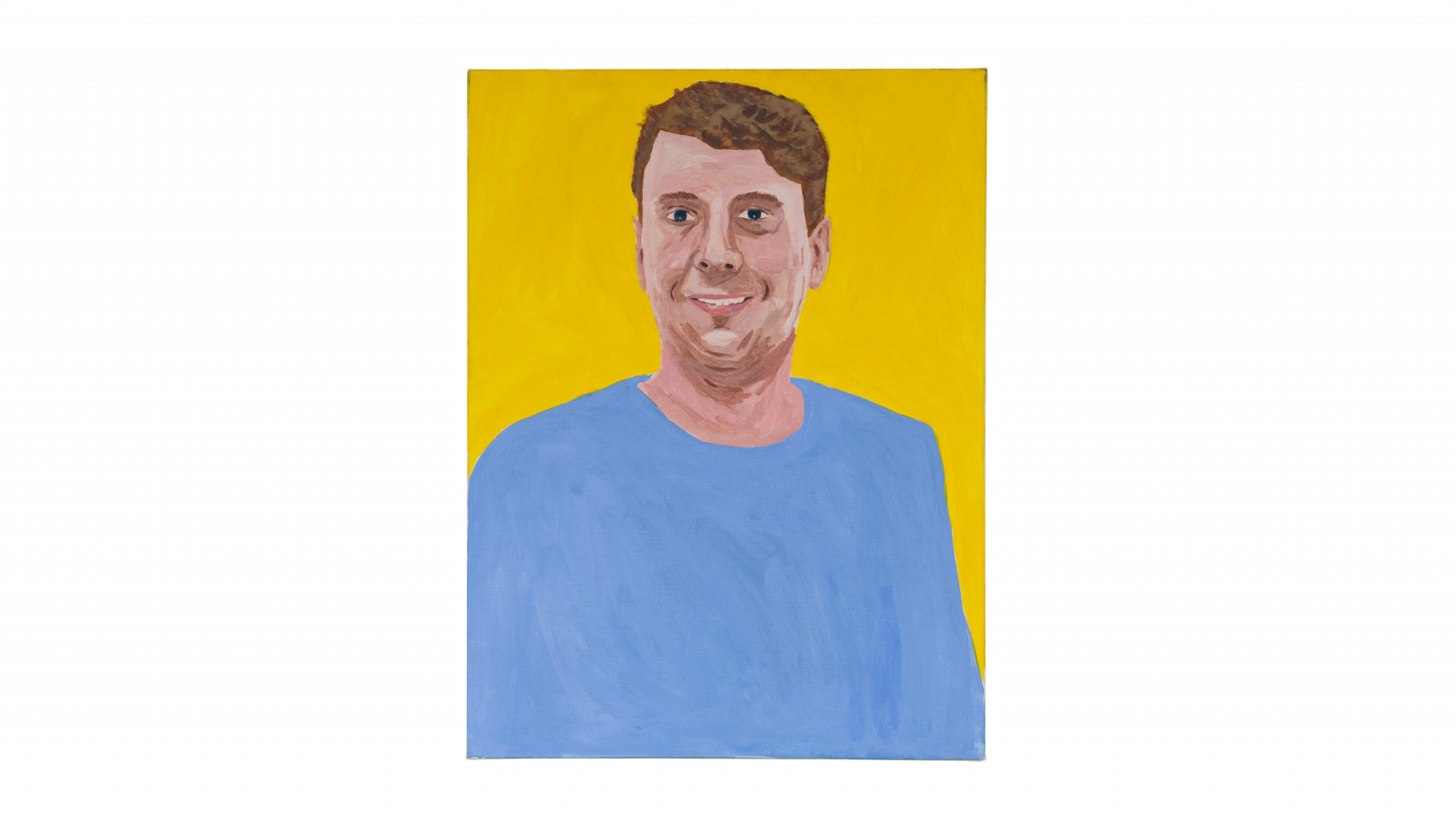Self portrait of Joe Lycett—2018 Acrylic on canvas Appears in the opening credits of my Channel 4 series Joe Lycett's Got Your Back.